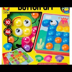 Other - New Button Art Toy Matching Mosaic Pegboard Games